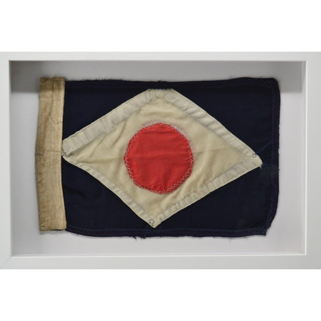 This is not your normal nautical flag. Very rare to find one hand made that is this old. Dates to 1880 era. Made of wool....