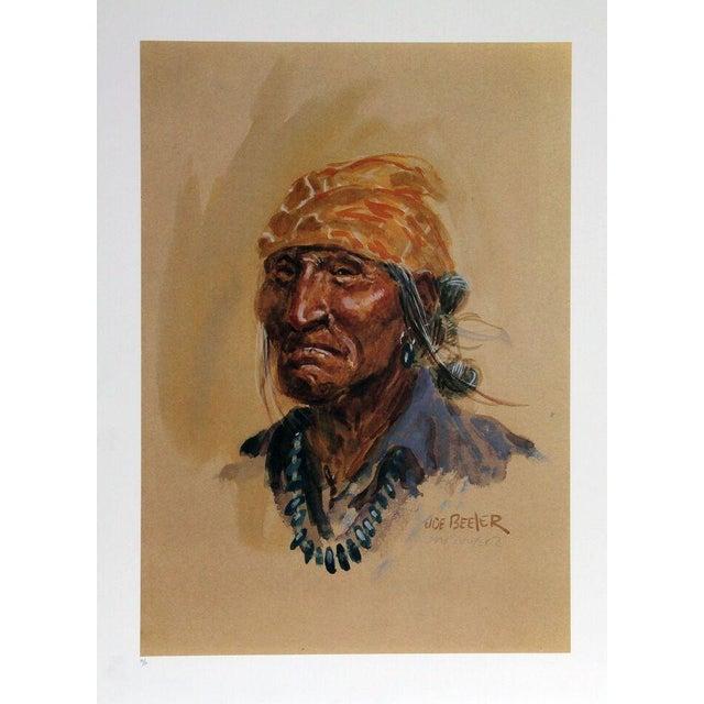 "Joe Beeler, ""Navajo,"" Lithograph - Image 1 of 2"