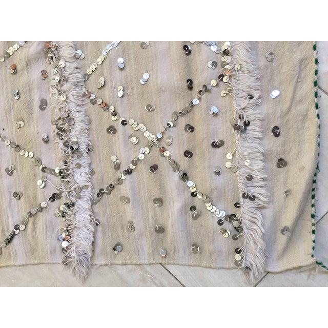 Moroccan Wedding Berber Blanket For Sale In Los Angeles - Image 6 of 10
