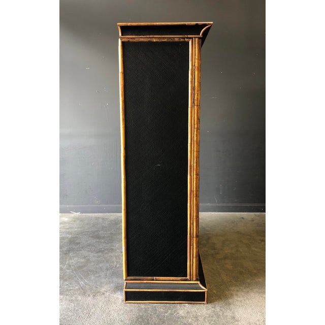 Empire Bamboo & Grass Armoire For Sale - Image 4 of 8