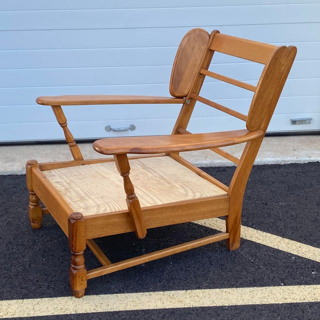 Wood Heywood Wakefield Lounge Chair For Sale - Image 7 of 13