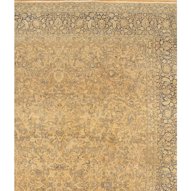 Antique Persian Mashhad Rug. Handmade, Vegetable Dyed, Hand-Spun, Hand-Knotted Lamb's Wool Pile on a Cotton Foundation...