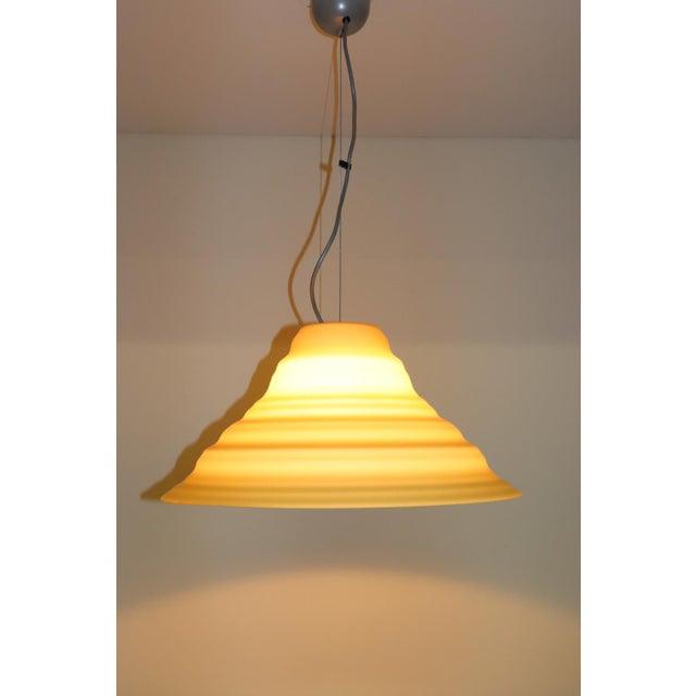 """Incamiciato"" Amber Murano Glass Mid-Century Modern Pendant Light For Sale In New York - Image 6 of 11"