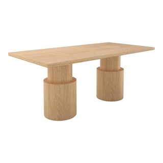 Contemporary 102 Dining Table in Oak by Orphan Work, 2019 For Sale