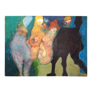 Martin Sumers Figurative Painting, 1970s For Sale