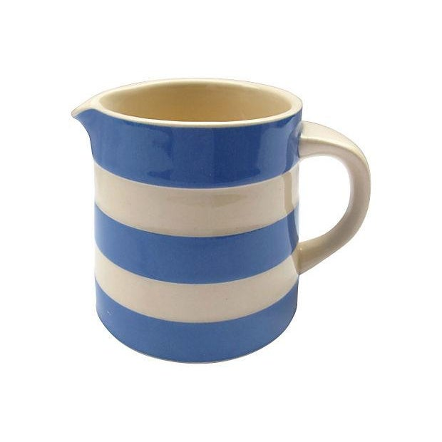 English Cornishware Cream Jug - Image 3 of 4