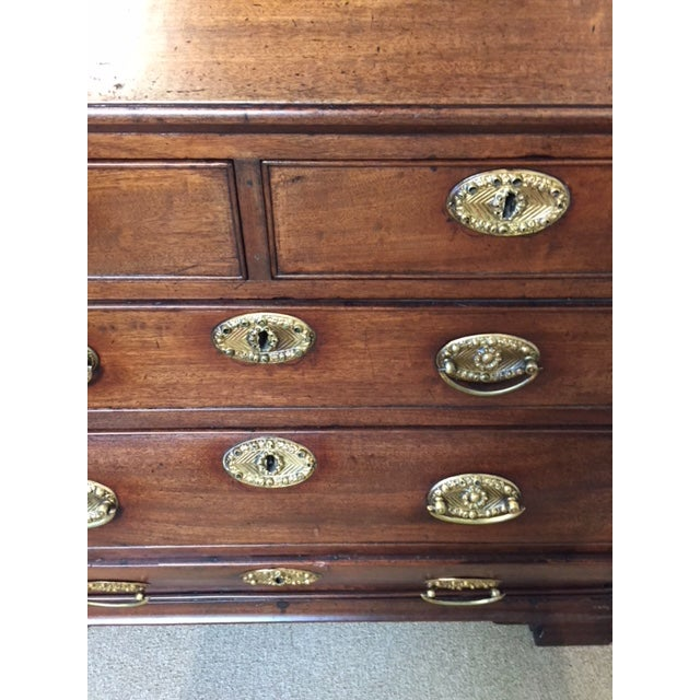 Brown 19th Century Traditional Bombe Desk/Chest of Drawers For Sale - Image 8 of 13