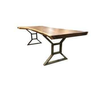 Live Edge Solid Slab Acacia Wood Dining Table