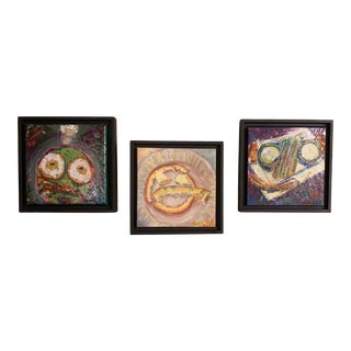 """""""Breakfast, Lunch, and Dinner"""" Contemporary Still Life Oil Paintings, Framed - Set of 3 For Sale"""