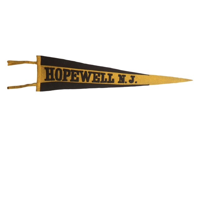 1e869e84a7f Antique Hopewell n.j. Felt Flag Pennant For Sale