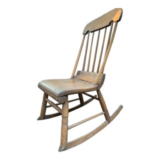 1830's Vintage Wooden Rocking Chair For Sale