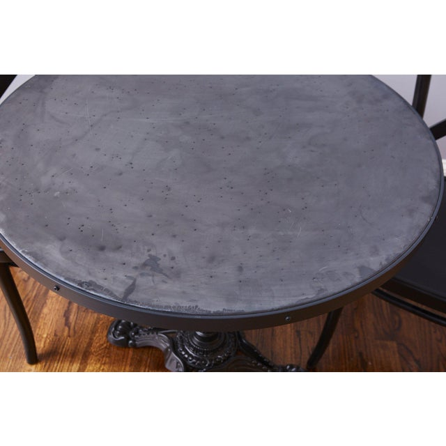 French Zinc Top Bistro Table For Sale - Image 4 of 12