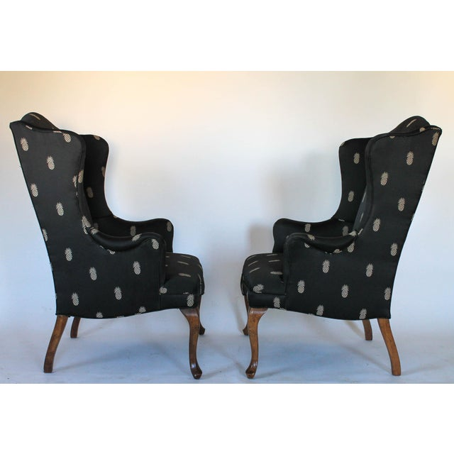 Vintage Wingback Chairs - A Pair - Image 3 of 11