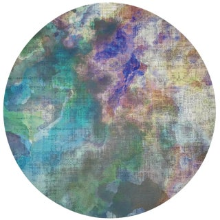 "Nicolette Mayer Impressionism Coast 16"" Round Pebble Placemats, Set of 4 For Sale"