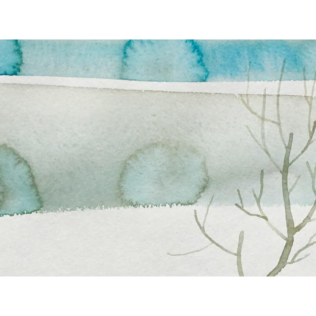 """Contemporary """"Winters Dust"""" Watercolor Painting For Sale - Image 3 of 3"""