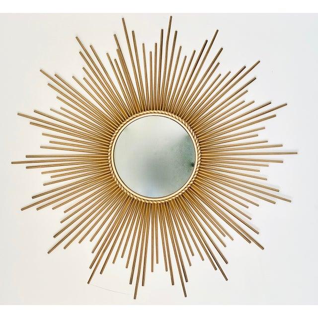 Mid-Century Modern Sunburst Convex Mirror | Chairish