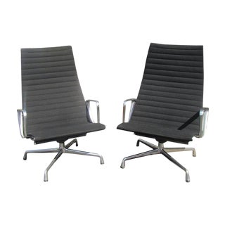 Vintage Herman Miller for Eames Aluminum Group Chairs - A Pair
