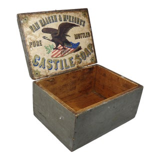 Antique American Country Store Soap Box For Sale