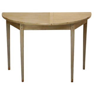 Customizable Country Demi-Lune Table by Jefferson West For Sale