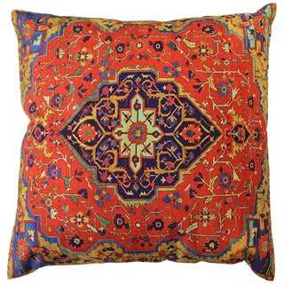 Persian Decorative Accent Pillow - 17ʺW × 17ʺH For Sale