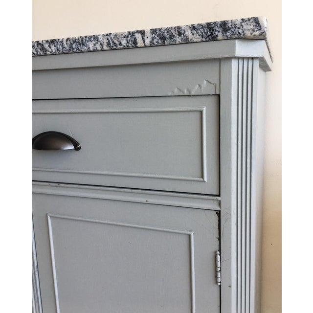 Grey Painted Server With Granite Top For Sale - Image 5 of 11