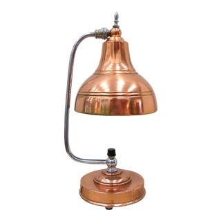 Markel Art Deco Copper & Chrome Lamp