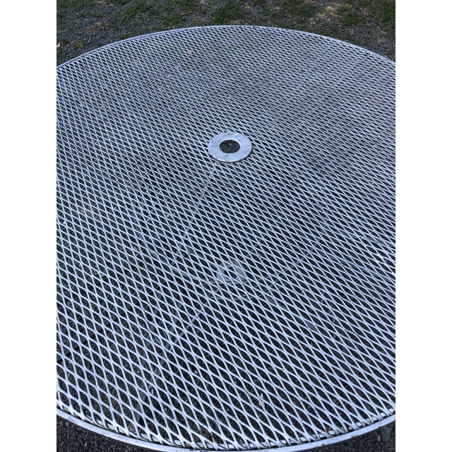 Mid Century Modern Woodard Round Outdoor Dining Set For Sale - Image 11 of 12