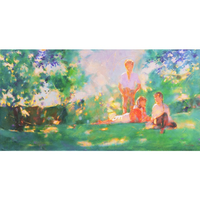 Canvas 'Sunlight Through the Leaves' For Sale - Image 7 of 8