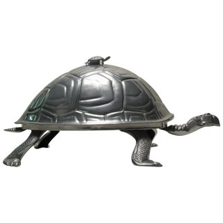 Arthur Court Cast Aluminum Turtle Meat Dome Usa For Sale