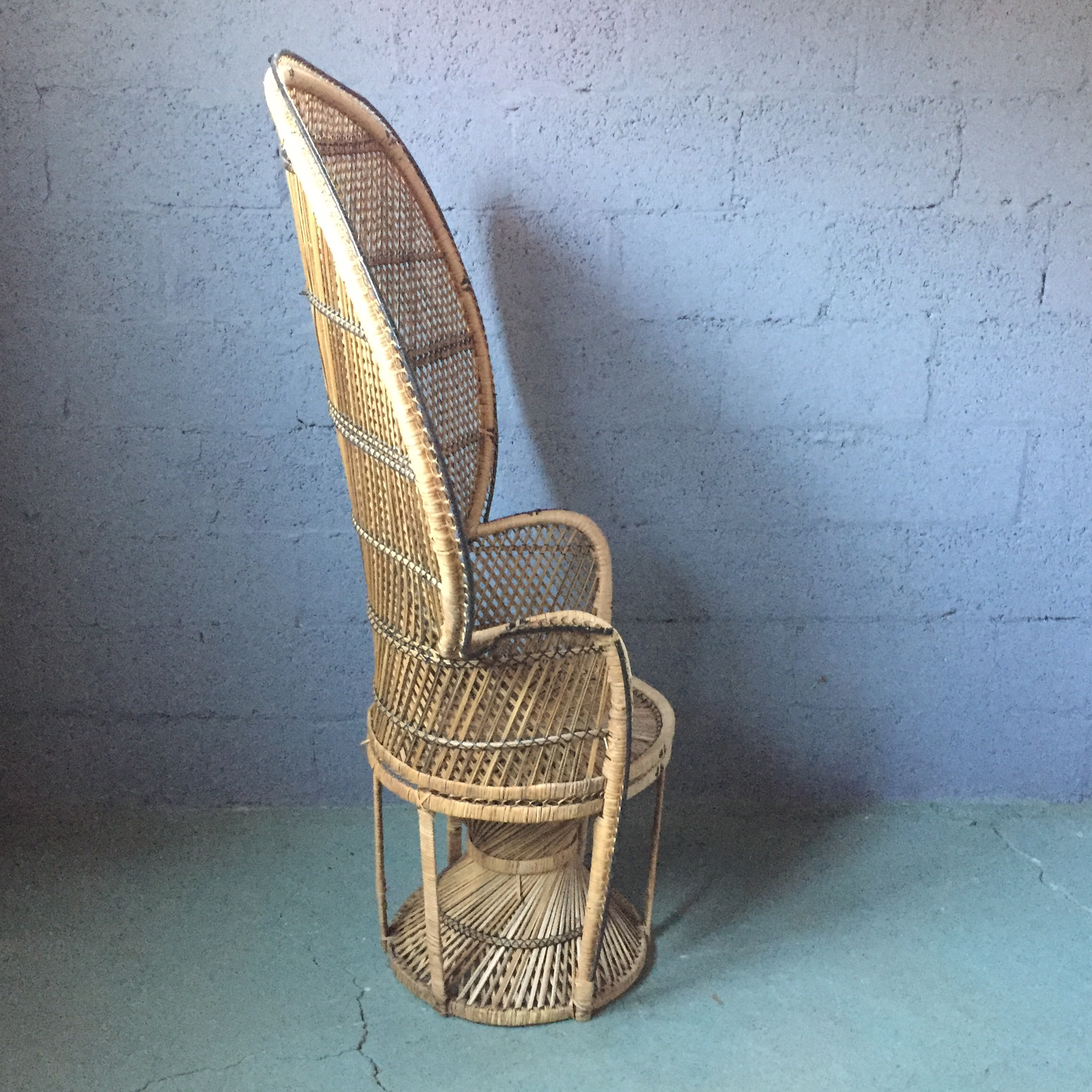 Vintage Rattan Peacock Fan Chair   Image 5 Of 11
