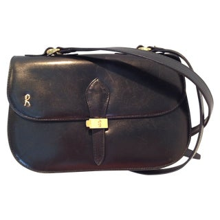 Roberta DI Camerino Black Leather Handbag