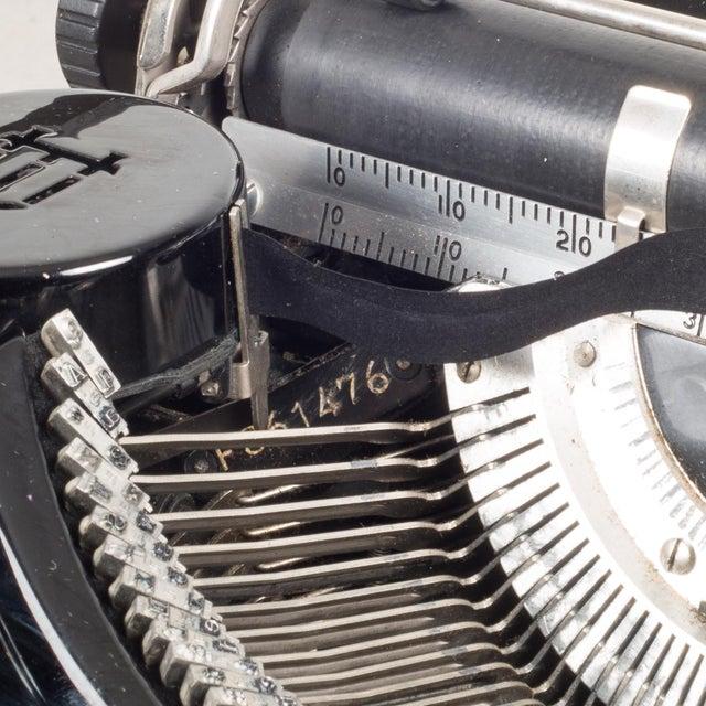 Metal Antique Underwood Universal Portable Four Bank Typewriter C.1935 For Sale - Image 7 of 12