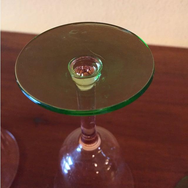 Art Deco Pink Glass Stemware - Set of 5 - Image 9 of 10
