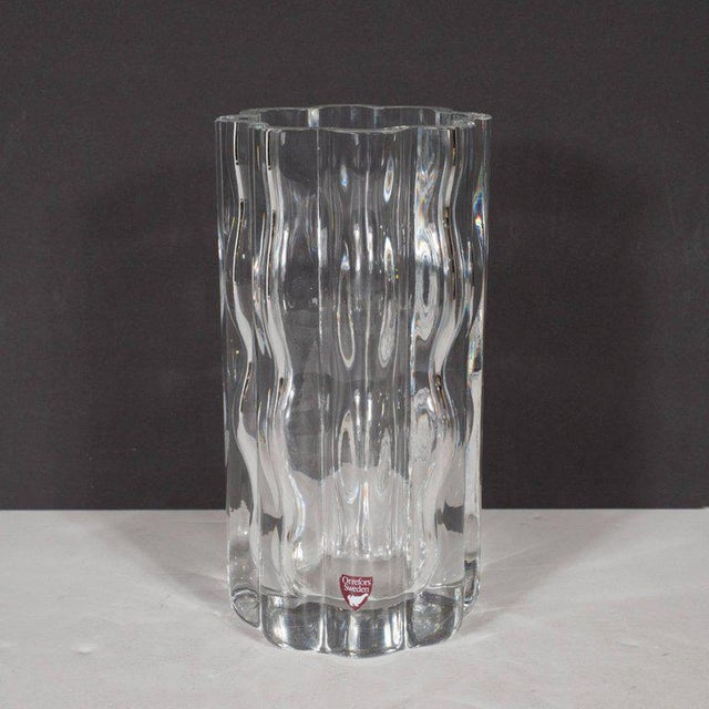 Excellent Swedish Mid Century Modern Translucent Handblown Rippled