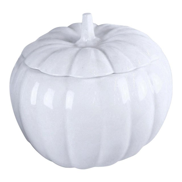 Ceramic 1990s Country Style Pumpkin Planter For Sale - Image 7 of 7