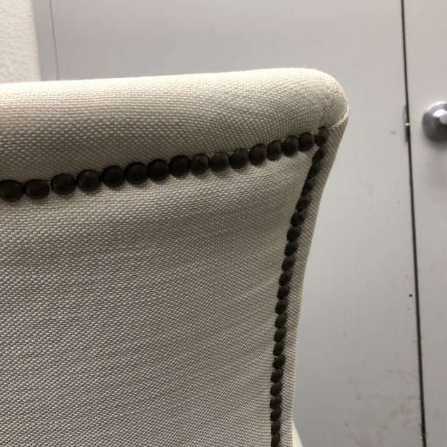 Set of Five Restoration Hardware Adèle Fabric Side Chairs For Sale - Image 11 of 13