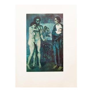 """1950s Pablo Picasso, Original """"La Vie"""" Period Lithograph For Sale"""