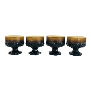 Vintage 1970s Tiffin Franciscan Madeira Coupe Glasses - Set of 4 For Sale