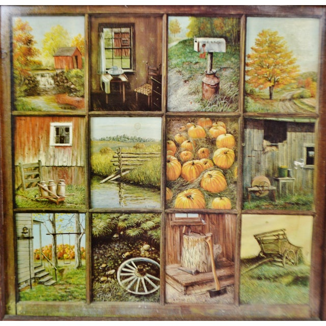 Home Interior Products: Vintage Home Interior HOMCO 12 Panel Rustic Window Pane