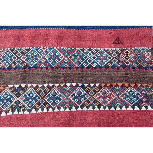 Fantastic Color Antique Turkish Malatya Kilim Rug - 6' 3'' x 3' 3'' - Image 9 of 10