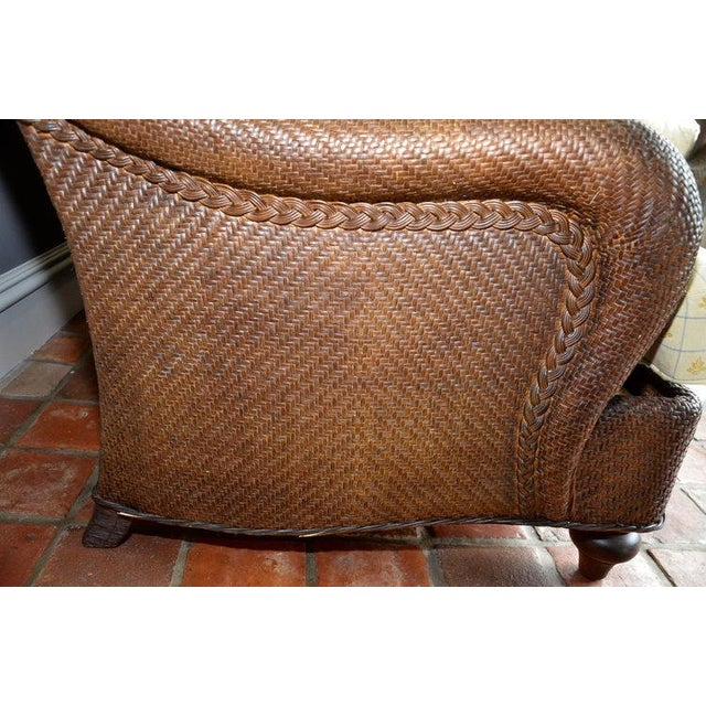 Hickory Chair Company Rattan Three Seat Sofa Couch - Image 5 of 8