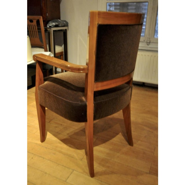 Maxime Old Pair of Refined Solid Walnut Armchairs For Sale - Image 4 of 9
