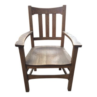 1910s Antique Stickley Bros. Quaint Furniture Armchair For Sale