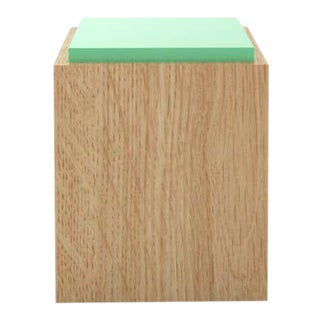Contemporary 103C Side Table in Mint by Orphan Work, Green For Sale