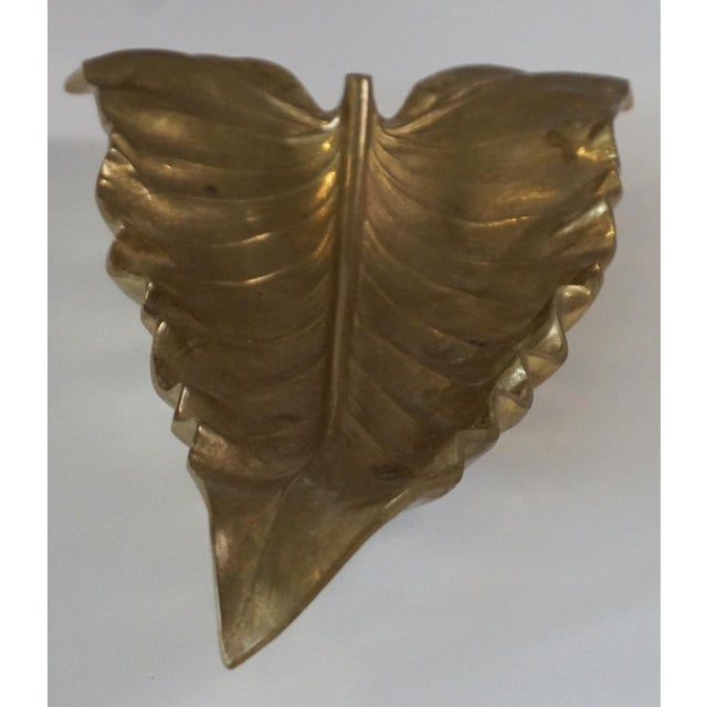 Va Metalcrafters Brass Calla Lilly Leaf Sculpture For Sale In Palm Springs - Image 6 of 6
