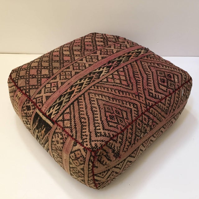 Textile Vintage Moroccan Tribal Floor Pillow For Sale - Image 7 of 13