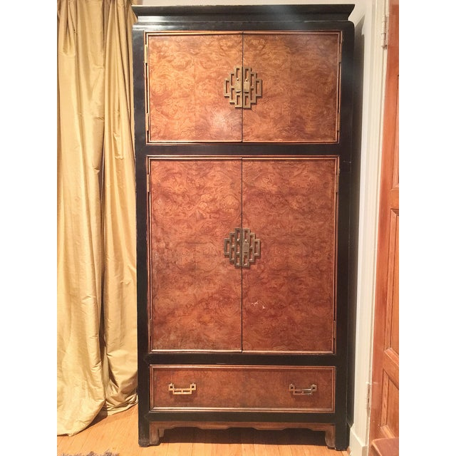 Century Furniture Ming Style Burl Airmoire - Image 2 of 9
