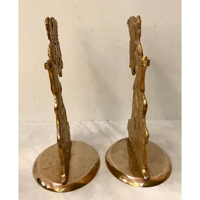 Vintage Brass Angel Candle Holders - a Pair For Sale - Image 4 of 6