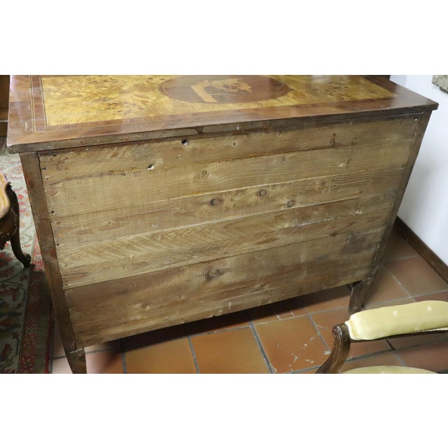 20th Century Italian Louis XVI Style Inlaid Wood Commode or Chest of Drawer For Sale - Image 6 of 13