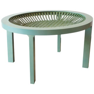 Ceramic and Maple Contemporary Green Tea Table For Sale